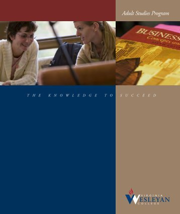 Adult Studies Program - Virginia Wesleyan College