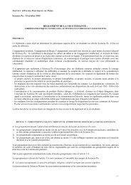Réglement de la vie étudiante - Sciences Po