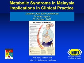 Metabolic Syndrome Study of Malaysia - MEMS