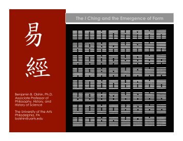 The I Ching and the Emergence of Form - Serendip