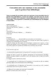 Exemple de convention Mairie et association - Médiathèque ...