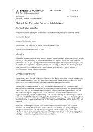 Skötselplan för Hultet Södra och Isfabriken - Partille kommun