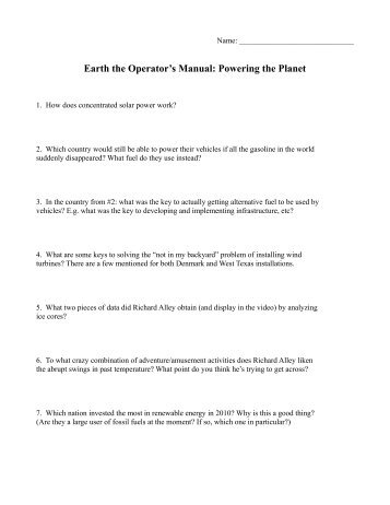 Nova Video Questions Hunting The Elements Earth Science Mr