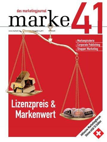 Lizenzpreis & Markenwert - marke41
