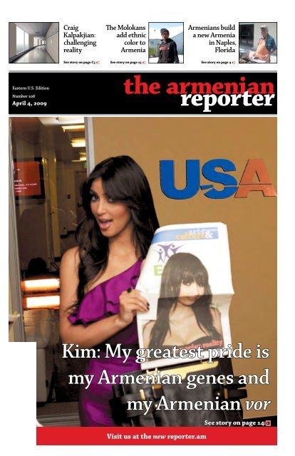 My greatest pride is my Armenian genes - Armenian Reporter