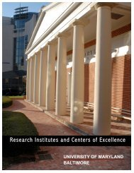 Centers of Excellence - University of Maryland BioPark