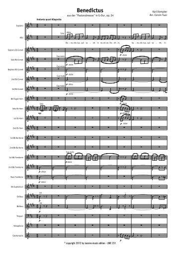 Benedictus (Vocal) - Score.MUS - Lucerne Music Edition