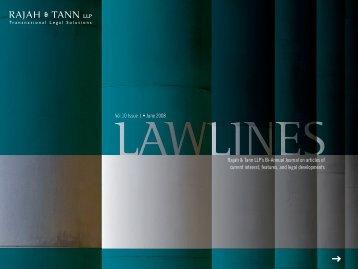 Lawlines Vol 10 Issue 1 - eOASIS - Rajah & Tann LLP