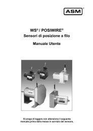 WS - Sensor di posizione a filo - ASM GmbH