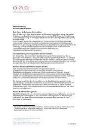 Medienmitteilung als PDF - OAQ Organ für Akkreditierung und ...