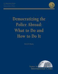 Democratizing the Police Abroad - National Criminal Justice ...