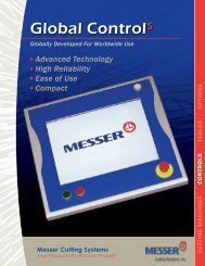 Global ControlS - Messer Cutting Systems
