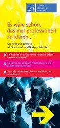 Coaching in Beratung für Studierende und Nachwuchskräfte
