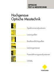 Hochgenaue Optische Messtechnik - Yokogawa