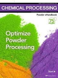 Optimize Powder Processing - Chemical Processing