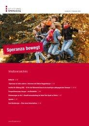 Ausgabe Nr. 1, Speranza bewegt - November ... - Stiftung Speranza