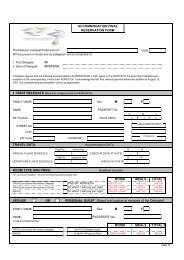 Accommodation Form - Norceca