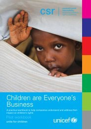 Children are Everyone's Business - Unicef