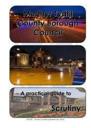 MTCBC Scrutiny Good Practice Guide - Merthyr Tydfil County ...
