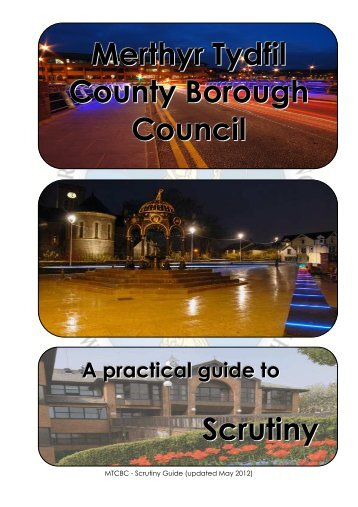 MTCBC Scrutiny Good Practice Guide - Merthyr Tydfil County ...