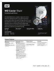 WD Caviar Black Series Disti Spec Sheet - Lamals as