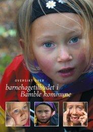 Barnehagebrosjyre - Bamble kommune
