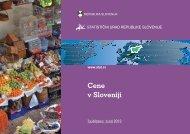 Cene v Sloveniji, brošura - Statistični urad Republike Slovenije