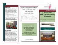 Parham Library Learning Commons Brochure - J. Sargeant ...