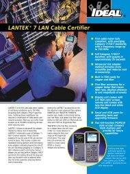 LANTEK® 7 LAN Cable Certifier