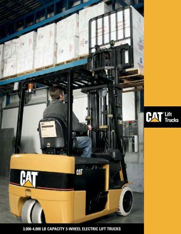3,000-4,000 LB CAPACITY 3-WHEEL ELECTRIC LIFT TRUCKS