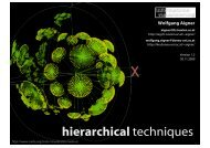 hierarchical techniques - Information Engineering Group