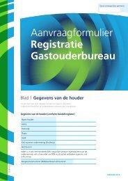 Aanvraagformulier registratie Gastouderbureau - Gemeente Katwijk
