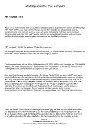 Modellgeschichte: YZF 750 (SP) - GENESIS Board