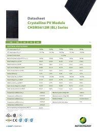 CHSM5612M (BL) Series Datasheet Crystalline PV ... - Activity Solar