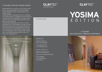 YOSIMA Edition flyer - Claytec