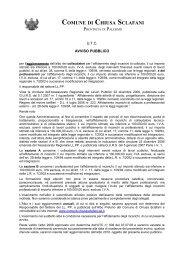 AVVISO PUBBLICO Aggiornamento Albo Professionisti 2009