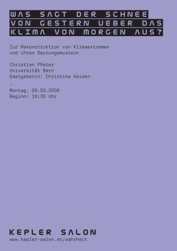 Heft_Pfister_20090309.pdf - Kepler Salon