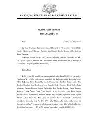 Rīcības sēdes lēmums - Satversmes tiesa
