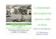 La Radioterapia nella neoplasia del pancreas e ... - Oncologia Rimini