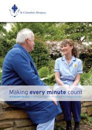 Making every minute count - St Columba's Hospice