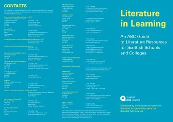 Literature in Learning - Scottish Book Trust