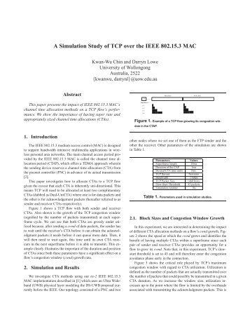 A Simulation Study of TCP over the IEEE 802.15.3 MAC