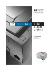 HP LaserJet 2100 manual (CZ)