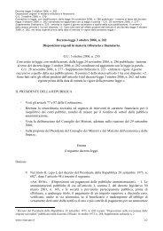 Decreto-legge 3 ottobre 2006, n. 262 Disposizioni urgenti in materia ...