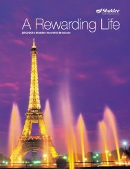 Rewards Brochure - Shaklee