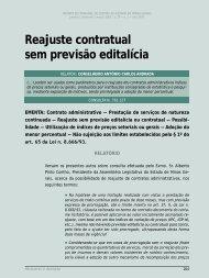 Reajuste contratual sem previsão editalícia - Revista do TCE