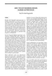 HBV Tedavi Rehberlerinin Karşılaştırılması - VHSD