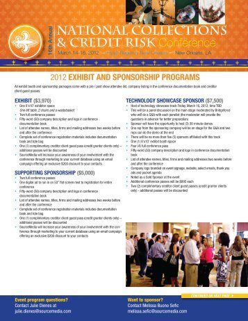 Exhibit and Sponsorship Programs