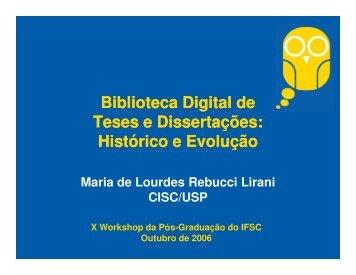 Biblioteca Digital de Teses e Dissertações da USP - Serviço de ...