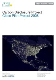 Carbon Disclosure Project Cities Pilot Project 2008